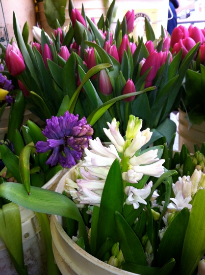 Spring has arrived at Pike Place Market in Seattle